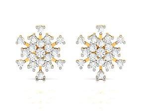 Women earrings 3dm render detail gold brilliant