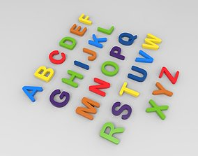 3D print model A-Z Alphabets