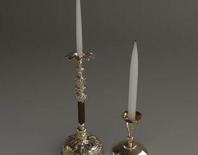 2 Candlesticks 3D