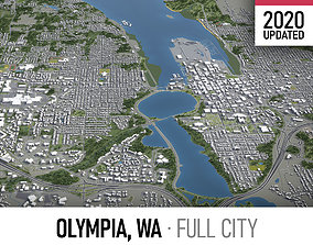 Olympia - city and surroundings 3D model
