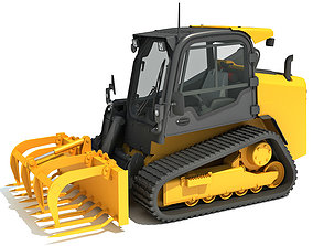 3D model Skid Steer Loader Manure Fork
