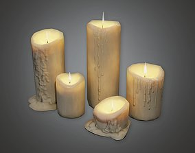 CEM - Cemetery Candles 1 - PBR Game Ready 3D asset
