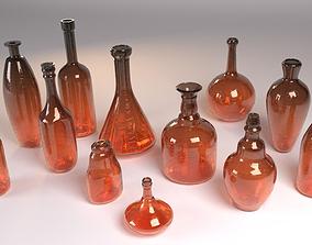 Realistic bottles 3D asset
