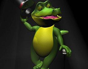 3D asset Cartoon Crocodile RIGGED