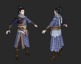 Ancient Chinese male character Knight errant 3D model