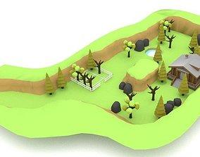 Farm House LOW POLY 3D asset