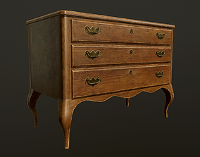 3D asset Antique commode - PBR Game Ready