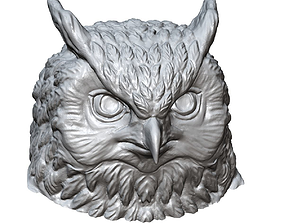 owl head sculpture printable