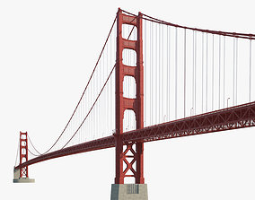 3D model francisco Golden Gate Bridge