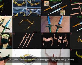 LOKI Crown - LADY LOKI Crown - LOKI Daggers - 3D model 2