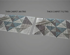 3D asset Low poly carpet 1 PBR