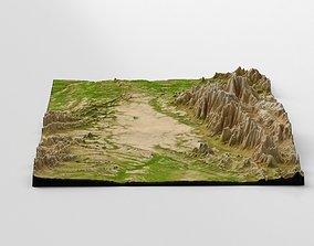 Wasteland Mountain Landscape 3D model