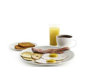 Breakfast Complete Meal 3D