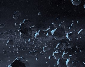 Asteroid geo pack 14 pieces 3D asset