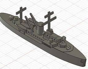 3D printable model Tsingtau - Torpedo boat floating base