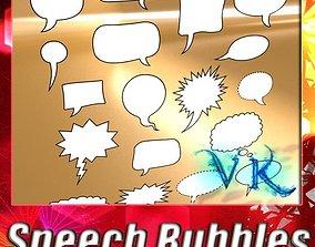 23 Speech Bubbles Collection 3D