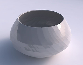 3D print model Bowl squeezed twisted with rocky fibers