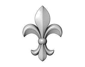3D print model Heraldic lily relief for woodworking and 1