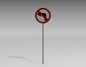 3D Left turn prohibited