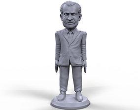 Richard Nixon stylized high quality 3D printable 1