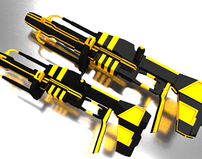 equipment 3D asset low-poly Scifi Gun