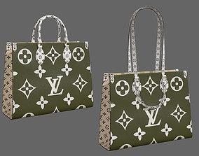 3D model Louis Vuitton Onthego Giant Monogram Khaki White