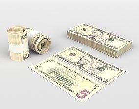 3D 5 US Dollars
