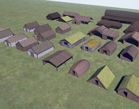 3D model Vikings Norse reallistic architecture pack