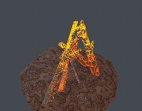 Campfire 3D asset VR / AR ready