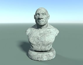 3D model Neanderthal Bust Low Poly