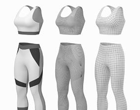 3D sportswear Woman Sportswear 05 Base Mesh Design Kit