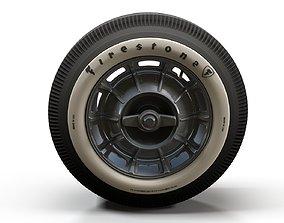 3D model Classic car highpoly wheel