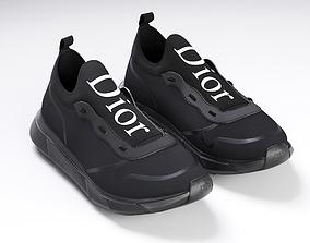 Dior B21 black shoes 3D