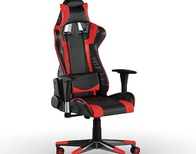 PC Gamer Chair Red 3D model