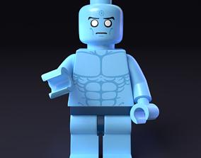 3D LEGO minifigure - Dr Manhattan - Watchmen