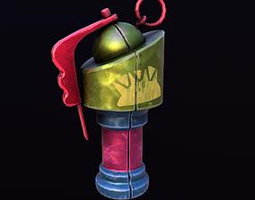3D model realtime Stylize Grenade