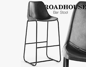 3D model Roadhouse Bar Stool Black