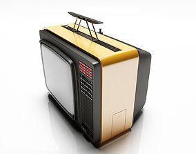 3D white Old Tv