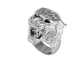 3D print model ring tiger