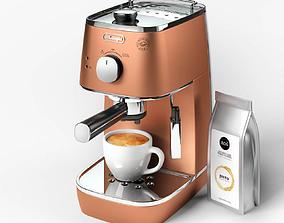 3D model DeLonghi Distinta ECI 341 CP Coffee Machine