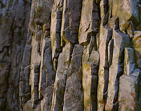 Mossy rock tileable texture 3D asset