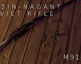 military Mosin-Nagant Soviet 91 30 Rifle 3D model