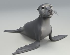 3D model cartoon sea lion