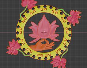 3D print model CNC Lotus Mandala Mudra