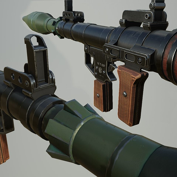 Rpg Rocket Launcher - Low Poly Game Model
