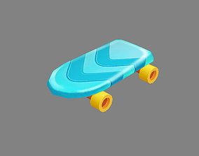 Cartoon toy four-wheeled scooter 3D model