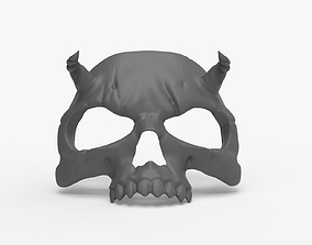 Halloween Skull Masquerade Demon mask 3D printable model
