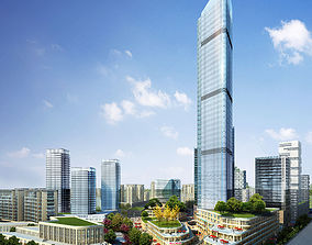 3D city Skyscraper Business Center