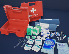 3D asset First Aid Kit 1 Plus 1 PBR Pack