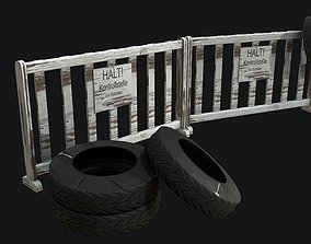 WW2 Checkpoint PBR 3D asset game-ready